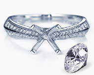 semi mount engagement rings, design your own engagement ring, semi mount diamond rings