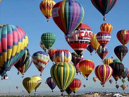 They would also catch up with the International Balloon Fiesta, in which 700