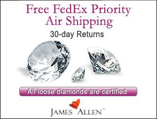 James Allen Free FedEx 30 Days Return Coupon