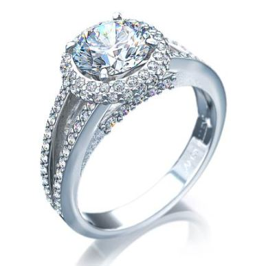 Trendy engagement rings