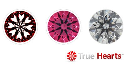True Hearts Ideal Cut Diamonds
